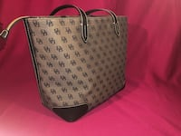 Gray and black dooney & bourke leather tote bag New York, 10019