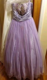 Lavender Purple Beaded Prom Dress Ball Gown