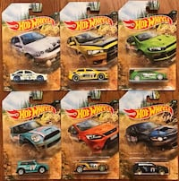 New 2019 Hot Wheels ~ Rally Sport ~ Set Of 6 ~ Walmart Exclusive Markham