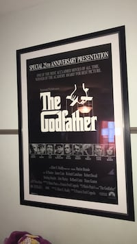 Framed matted godfather poster Vienna, 22180