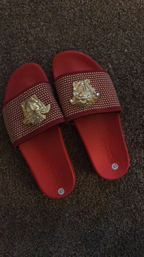 Pair of red slides