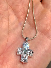 Sterling silver chain and cross pendant