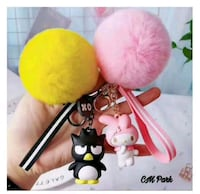 Sanrio Characters Chains with fur balls  Singapore