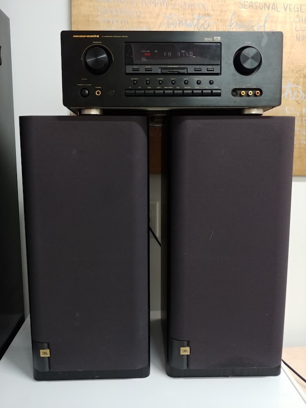 used stereo system marantz receiver and 2 jbl speakers for sale in cary letgo. Black Bedroom Furniture Sets. Home Design Ideas