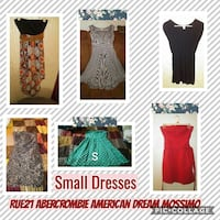 six small dresses collage