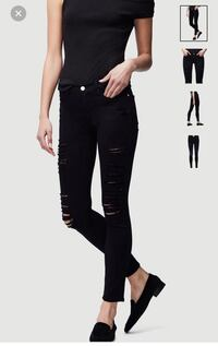 Frame black ripped jeans