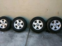 four gray 5-spoke vehicle wheels and tires San Pablo, 94806