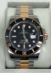 ROLEX Submariner Black and Gold Two-Tone Costa Mesa, 92627