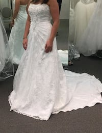 All-Over Lace-A-line Wedding Dress with beaded mot Salem, 03079
