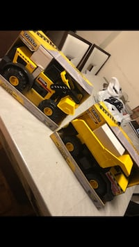 Tonka steel Dump Truck and loader. 60 for both OBO . Retails for 90$ tax included. Brand new in box no damages. Toronto, M9P