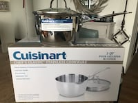 2 Cuisinart stainless cookware W/ Cover  Chicago, 60601