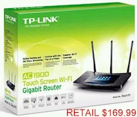 TP-LINK AC1900 Touch Wireless Dual Band Router Lanham, 20706