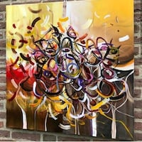 yellow, red, and black abstract painting Washington