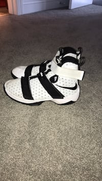 white-and-black Nike high-top sneakers Greenville, 27858