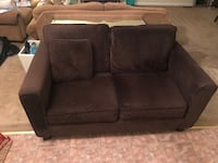 Brown suede love seat sofa Hyattsville, 20781
