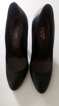GUCCI women black leather shoes size 35  Vaughan, L4J 0G6