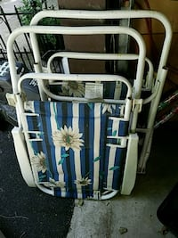 white and blue floral print wooden chair Springfield, 62703