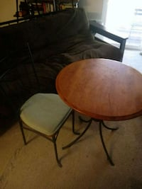 round brown wooden table with one chairs Forestville
