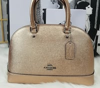 Brown leather 2-way handbag Brampton, L6V 0Y1