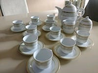 Hand Painted, Gold Plated Espresso Set Brampton, L6Y
