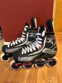 Pair of gray-and-black inline skates Thornton, 80241