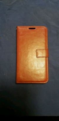 Brown leather S7 phone case