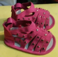 pair of pink leather sandals 93705