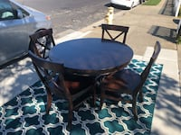 Pottery Barn Table (w/leaf) and 4 chairs South San Francisco, 94080