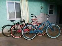 blue and red cruiser bicycles Garden Grove, 92843