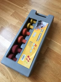 6 Rubber weights Kg