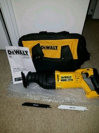 NEW Dewalt 20v MAX reciprocating saw sawz all  Ashburn