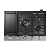 30 IN. GAS COOKTOP IN STAINLESS STEEL WITH 5 BURNERS INCLUDING POWER BURNER Houston