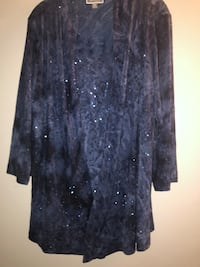 Brand new blue shimmery top plus size 0X. From JM Collection Macy's Edmonton, T6L 6P5