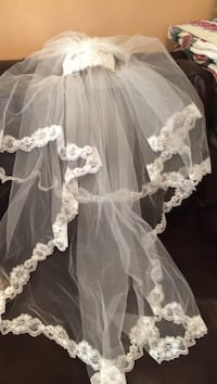 White veil with pearl accents  Houma, 70364