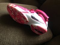 pair of pink-and-white Nike cleats Hyattsville, 20782
