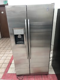 Counter Depth Ge profile stainless steel side by side refrigerator it works great 100 days warranty  Baltimore, 21222