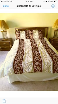 white and brown floral bed sheet Alexandria, 22310