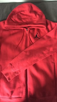 Jordan red hoodie - zip up Oslo, 0686