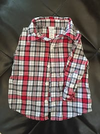 Formal cotton collar shirt size 6-12m at Coventry Calgary, T3K 6J7