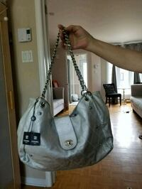 gray leather shoulder bag screenshot Laval, H7T 2W8