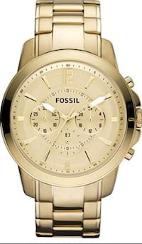 Fossil Men's Chronograph Grant Gold Ion Plated Stainless Steel Watch New York, 10305