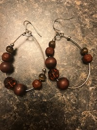 pair of brown and silver earrings Rocky Mount, 27803