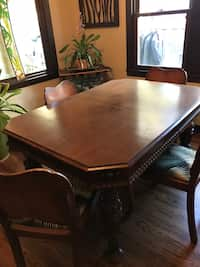 Wondrous Used Beautiful Table And Chairs Like New Real Wood For Sale Machost Co Dining Chair Design Ideas Machostcouk