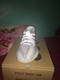 pair of white Adidas Yeezy Boost 350 on box Capitol Heights, 20743
