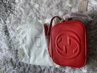 New Gucci red soho bag