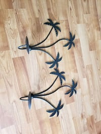2 Palm Tree Candle Holders