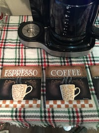 Small coffee plaques great for a coffee bar!