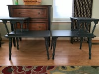 Charcoal distressed two tier end tables  Adamstown, 21710