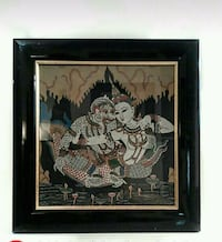 Intricate religious framed painting on cloth Toronto, M6M 1T1
