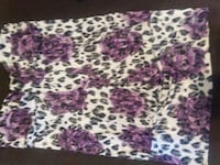 white, purple, and pink floral textile Aurora, 80012